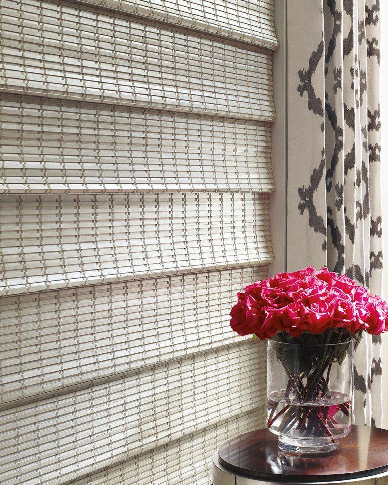 Provenance woven roman shade texture